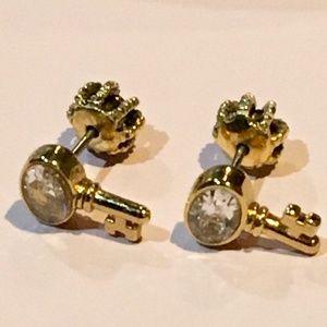 Juicy Couture vintage earrings tiny keys NEW